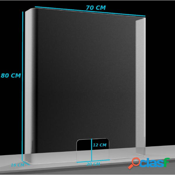 Schermo Protettivo parafiato larghezza 70 cm in plexiglass