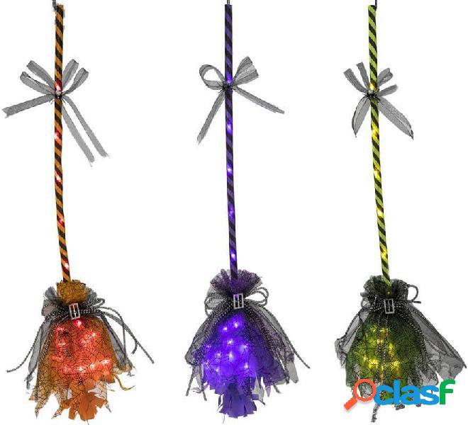 Scopa della strega con luce in vari colori 16x90 cm