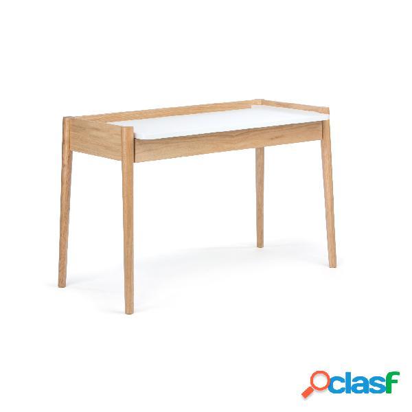 Scrivania Feldbach in legno ingegnerizzato e massiccio,