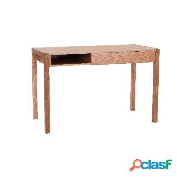 Scrivania NewEst in legno ingegnerizzato e massiccio,