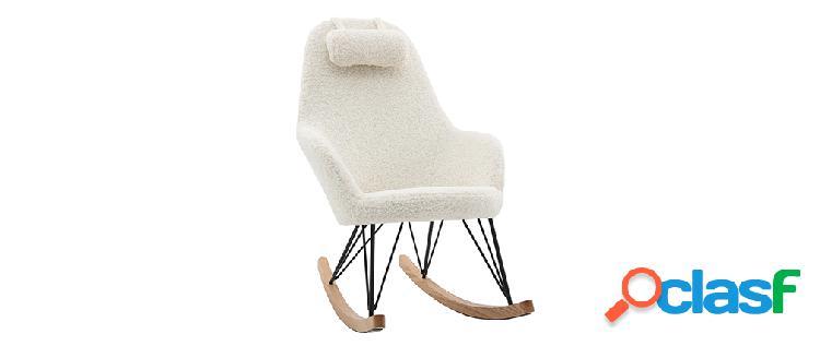 Sedia a dondolo tessuto pelle di pecora JHENE