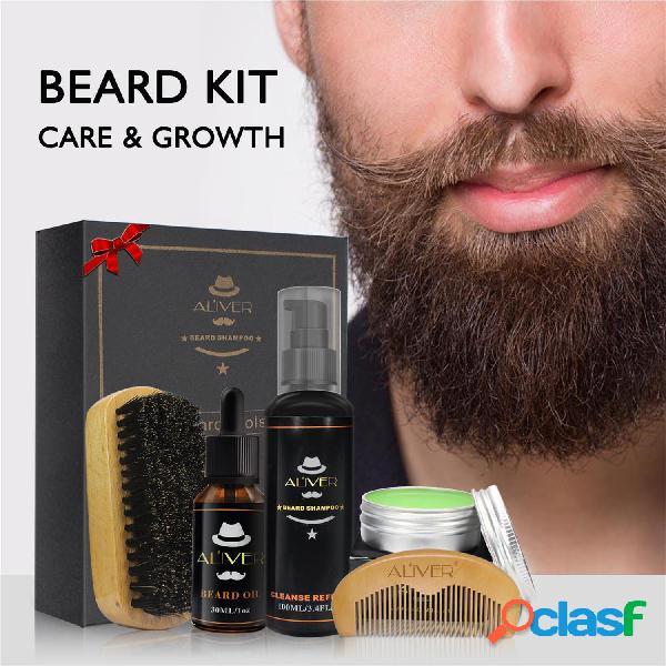 Set per la cura della barba da uomo Styling Brushing per la