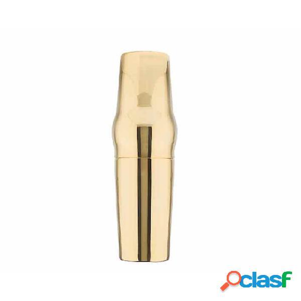 Shaker 2 Pz Bombato In Acciaio Inox Colore Oro Cl 70
