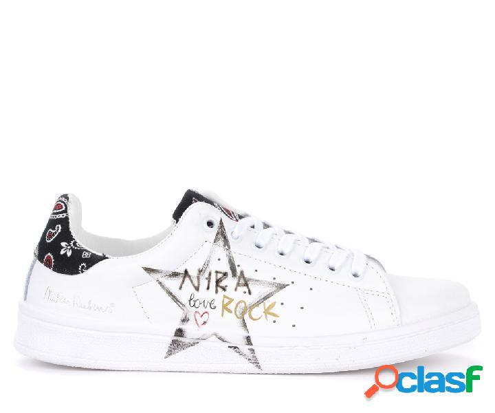 Sneaker Nira Rubens Daiquiri in pelle bianca con dettaglio