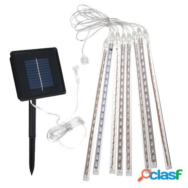 Solar Powered 30cm 8 tubo LED Meteor doccia pioggia giardino