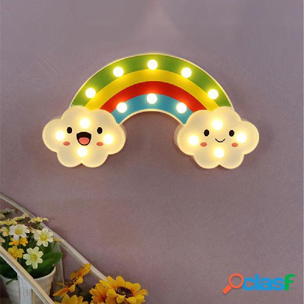 Sorriso Face Cloud Rainbow LED Night Light Cartoon Night