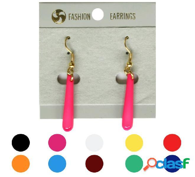 Sottili orecchini flamenco allungati in vari colori