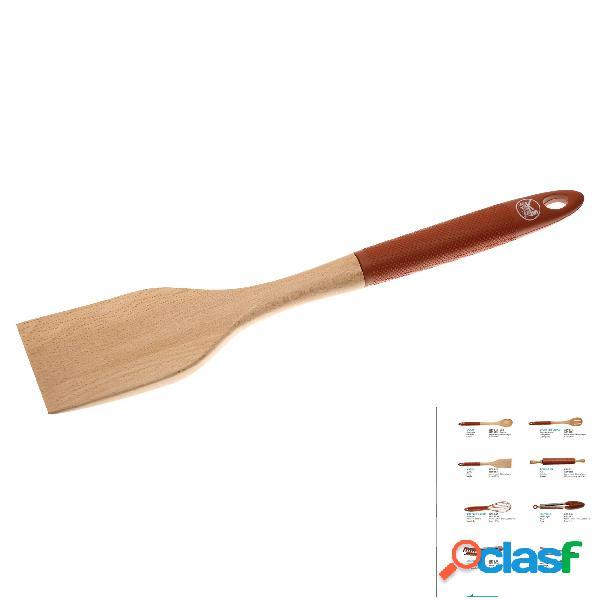 Spatola in silicone e Legno rinforzata cm 35, ideale per