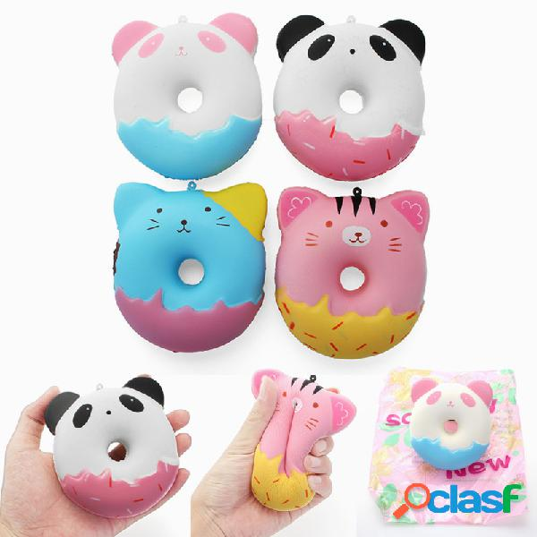 Squishy Cute Animals Donut Toy Dolce Soft Slow Rising con