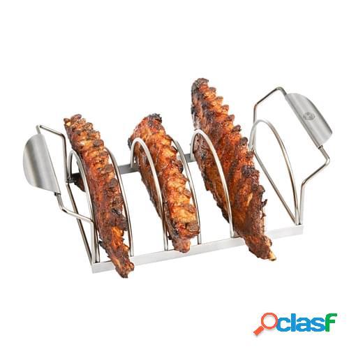 Supporto barbecue per costine in acciaio inox linea BBQ di