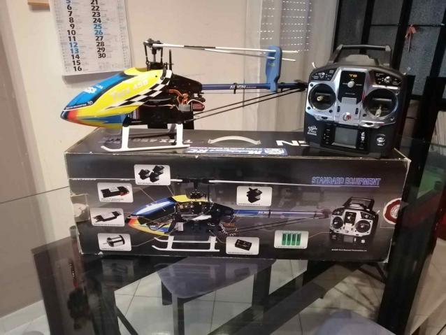T rex 450 plus flybarless completo di tx