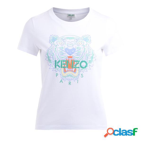 T shirt Kenzo Tigre in cotone bianco