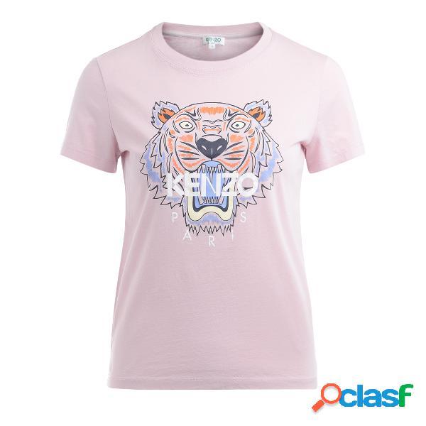 T shirt Kenzo Tigre in cotone rosa