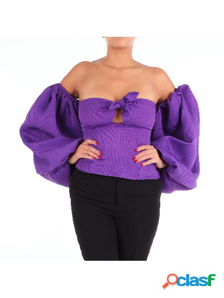 THE ATTICO ATTICO - TOP Top Manica Lunga Donna Viola