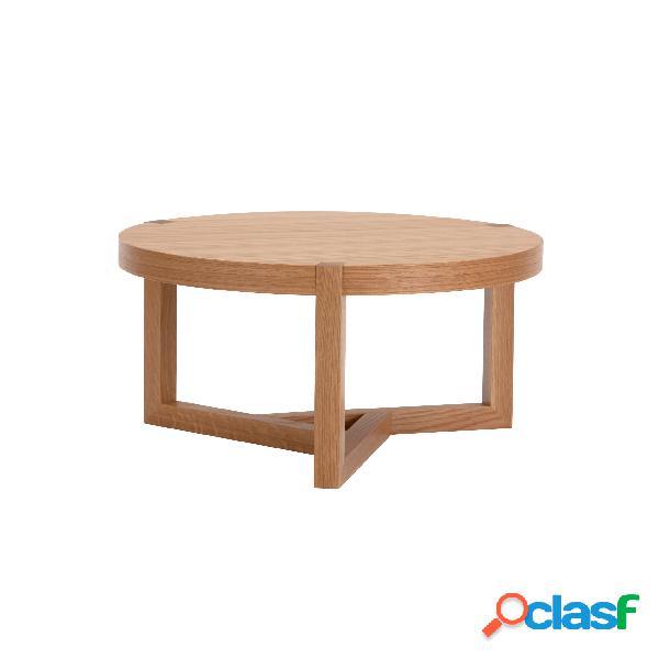 Tavolino Brentwood in legno ingegnerizzato e massiccio,