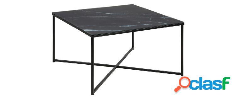 Tavolino basso effetto marmo nero ALCINO