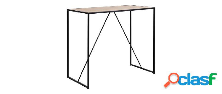 Tavolo da bar in legno e piedi in metallo nero TRESCA