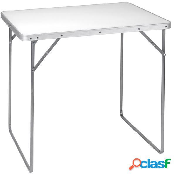 Tavolo da campeggio 80x60 Bianco