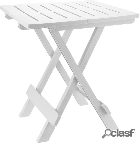 Tavolo da campeggio bianco 44x44