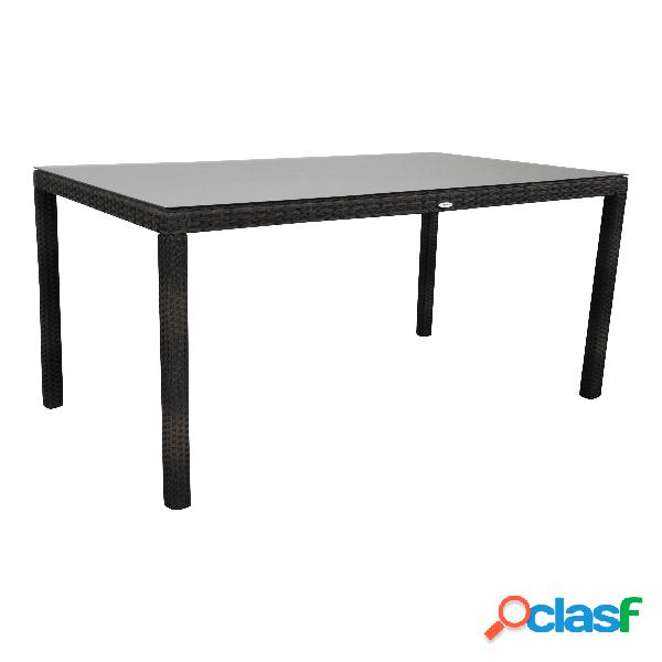 "Tavolo da giardino ""Samos"" 160x90 marrone"