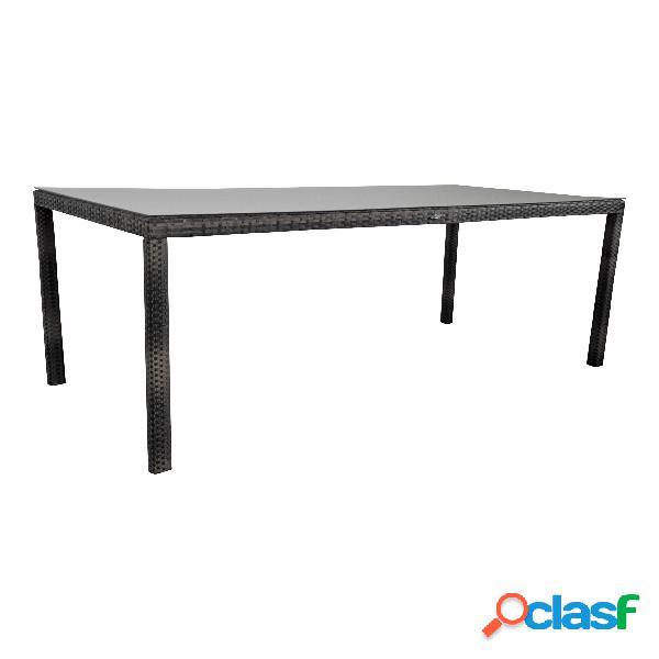 "Tavolo da giardino ""Samos"" 220x100 marrone"
