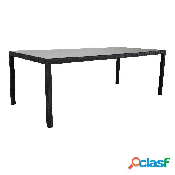 """Tavolo da giardino """"Samos"""" 220x100 nero"""