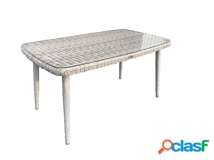 "Tavolo da giardino in vimini ""Bora"" - 110x110x75 cm - Sunset"