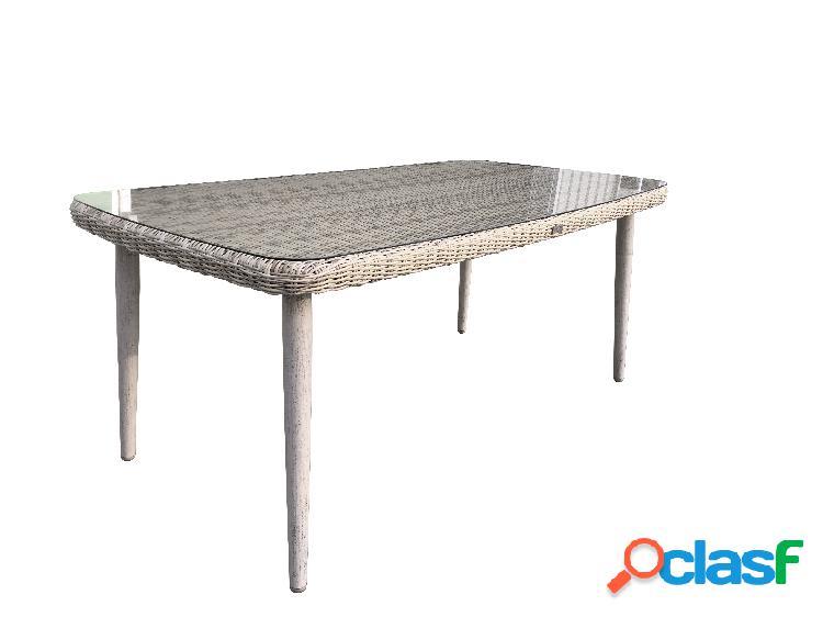 "Tavolo da giardino in vimini ""Bora"" - 180x100x75 cm - Sunset"