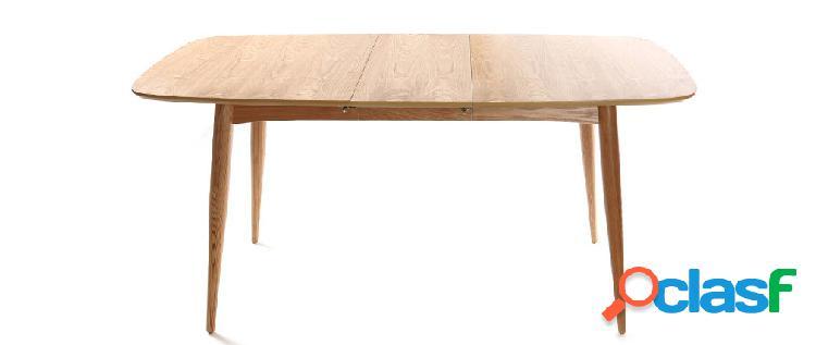 Tavolo da pranzo allungabile in frassino naturale L130-160