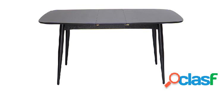 Tavolo da pranzo allungabile nero 130-160cm NORDECO