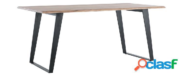 Tavolo da pranzo in acacia e metallo nero L175 KORA