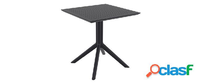 Tavolo da pranzo quadrato design nero interno / esterno