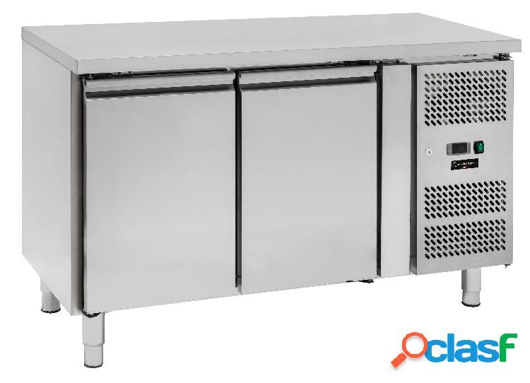 Tavolo frigo - 2 porte - Prof. 600 - temperatura -2°C/+8°C