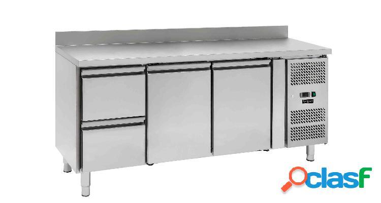 Tavolo frigo - 2 porte e 2 cassetti - alzatina - Prof. 700
