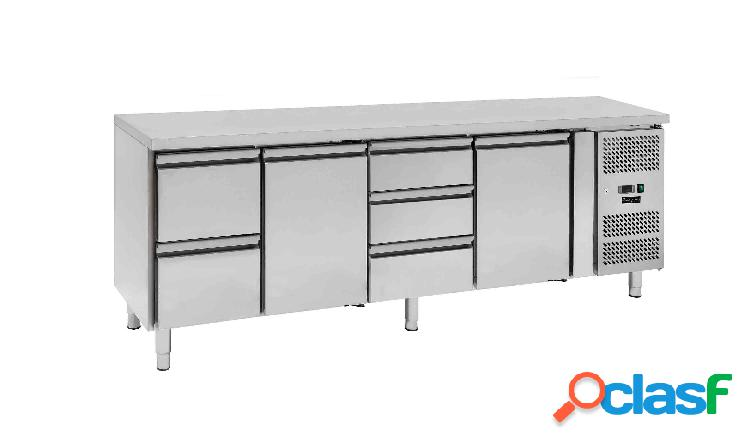 Tavolo frigo - 2 porte e 5 cassetti - Prof. 700 -