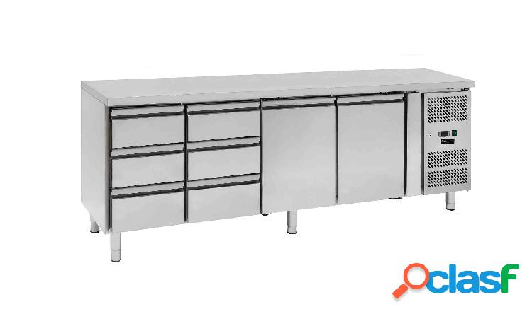 Tavolo frigo - 2 porte e 6 cassetti - Prof. 700 -