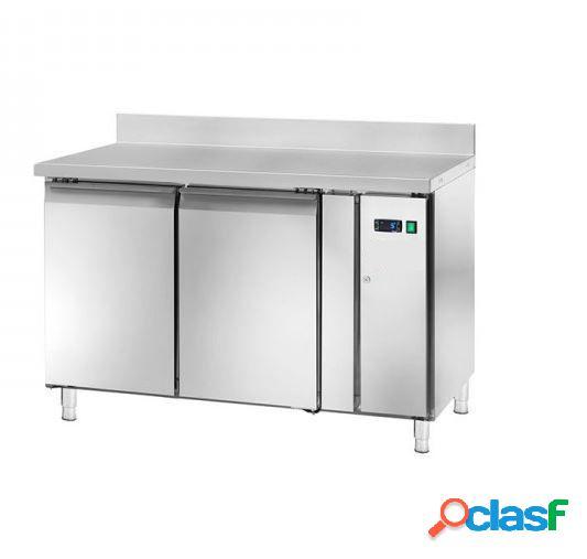Tavolo frigo - 2 porte e alzatina - Prof. 600 mm -