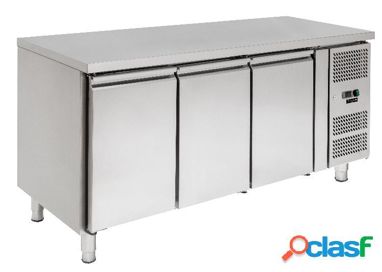 Tavolo frigo - 3 porte - Prof. 600 - temperatura -2°C/+8°C