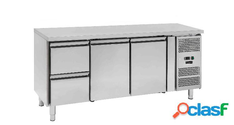 Tavolo refrigerato - 2 porte e 2 cassetti - Prof. 700 -