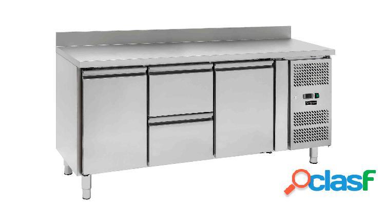 Tavolo refrigerato - 2 porte e 2 cassetti - alzatina - Prof.