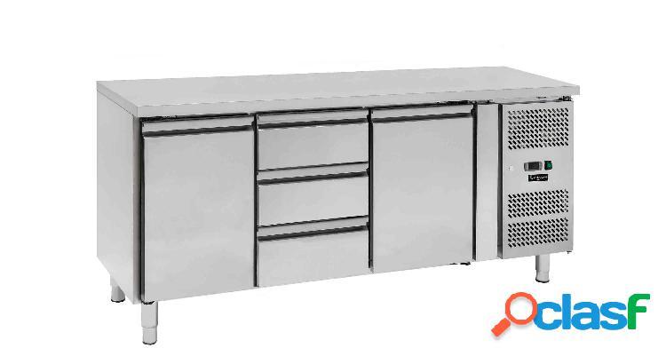 Tavolo refrigerato - 2 porte e 3 cassetti - Prof. 700 -