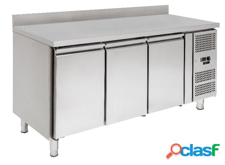 Tavolo refrigerato - 3 porte - alzatina - Prof. 600