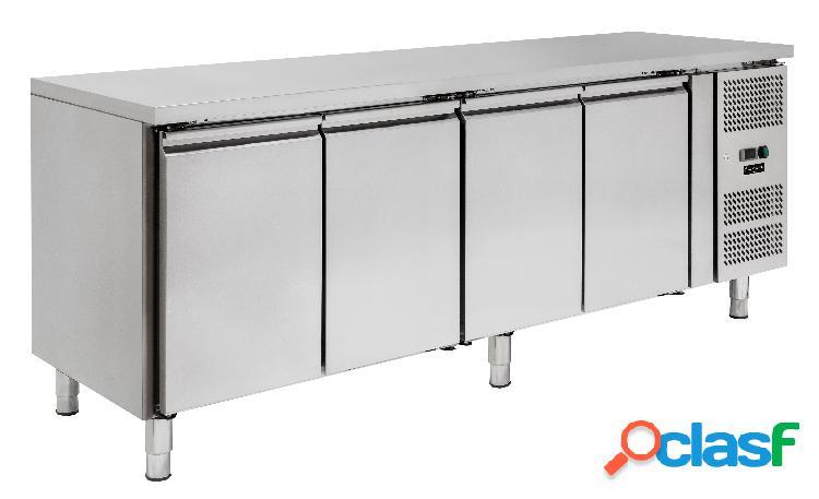 Tavolo refrigerato - 4 porte - Prof. 600 - temperatura