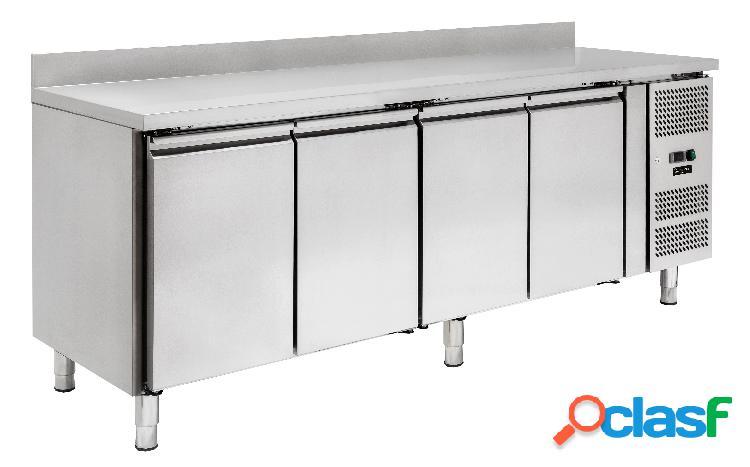 Tavolo refrigerato - 4 porte - alzatina - Prof. 600