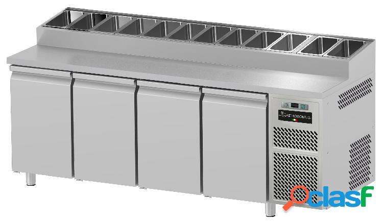Tavolo refrigerato Snack - 4 porte - Prof. 700 mm