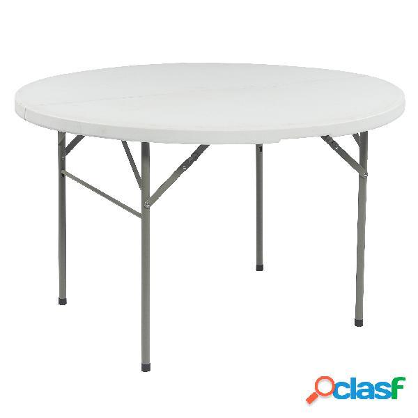 Tavolo rotondo pieghevole da festa 122 cm