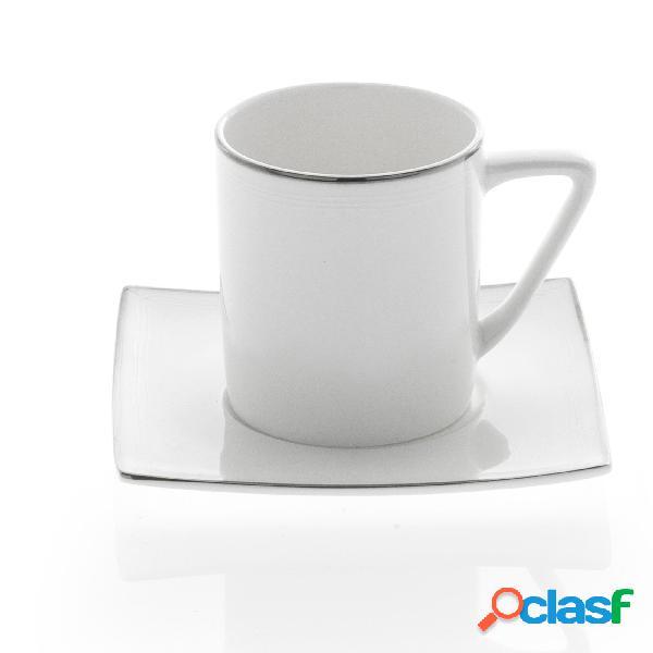 piattini e palette decoro NAPOLI Bialetti Set 2 tazzine caff/è