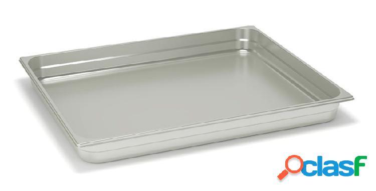 Teglia quadrata in acciaio inox GN 2/1 - 650 mm x 530 mm x