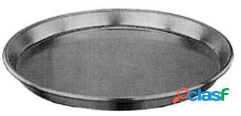 Teglia rotonda in alluminio diametro 32 cm e altezza 3 cm