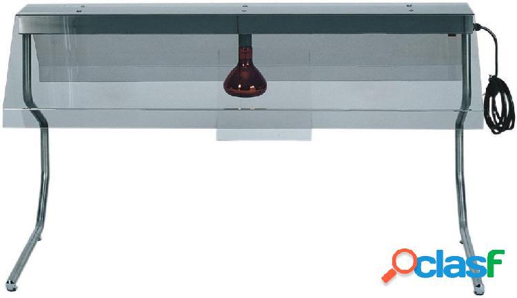Telaio in inox con 1 lampada a raggi infrarossi